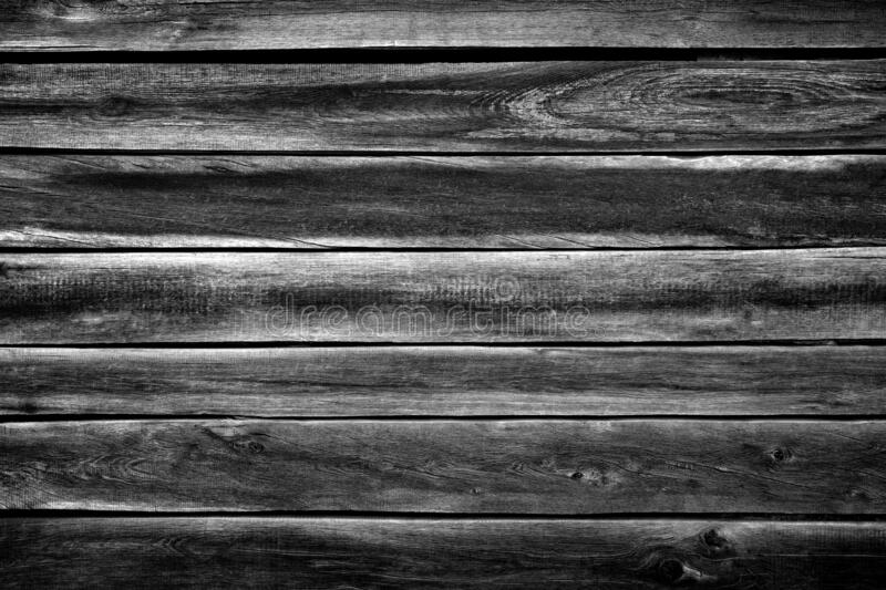 Black  gray wood plank texture surface as background stock photo