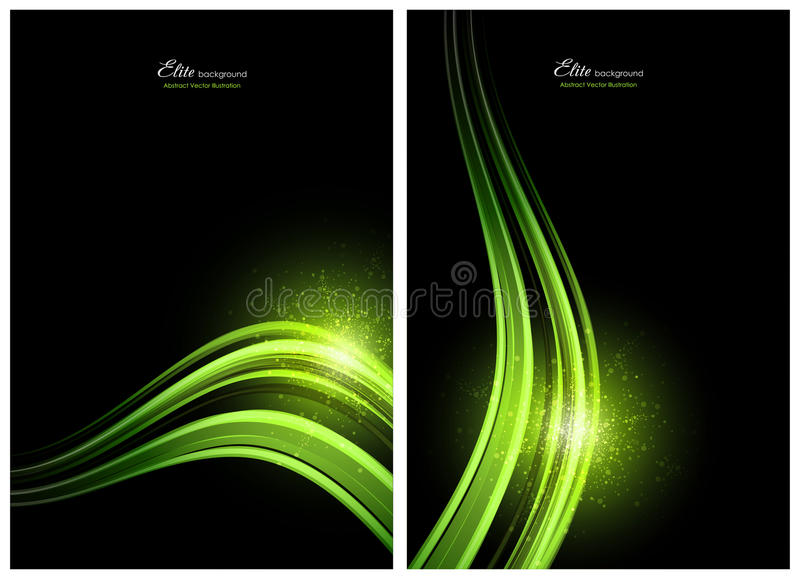 Black and green abstract backgrounds vector illustration