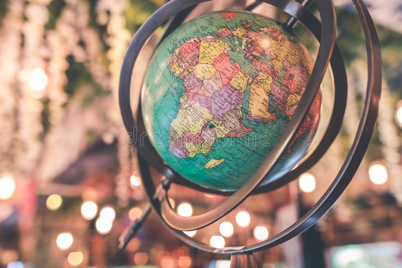 Black and Green Desk Globe royalty free stock image