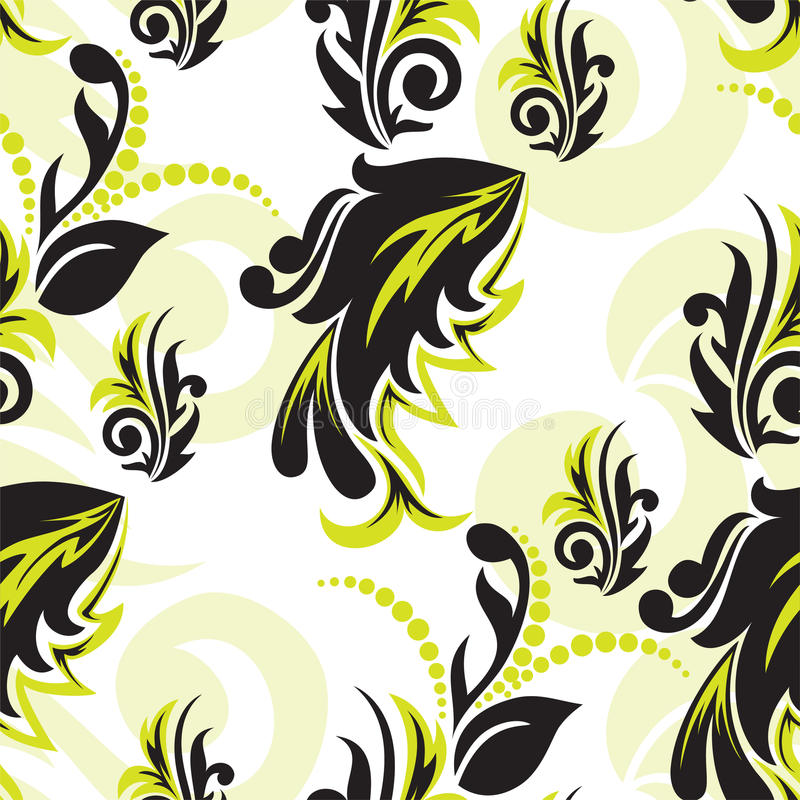 Download Black-and-green Floral Seamless Royalty Free Stock Photo - Image: 17755855
