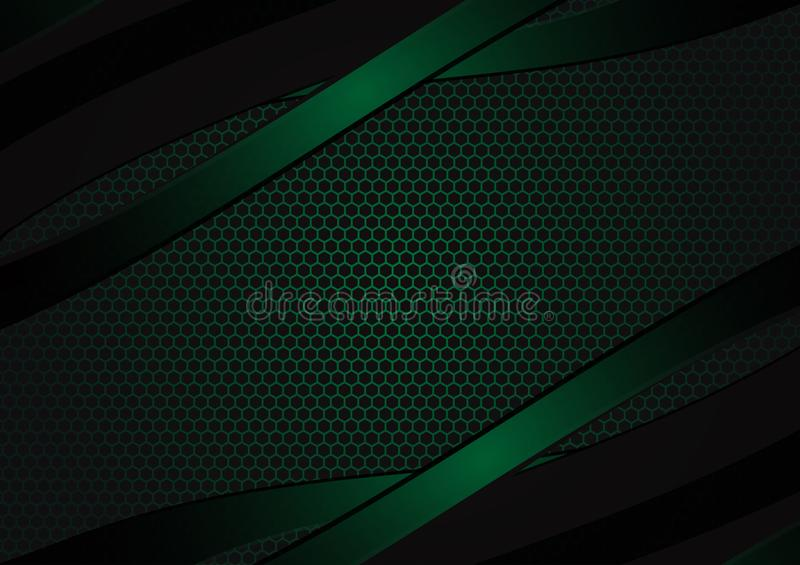 Black and green geometric abstract vector background with copy space with copy space modern design royalty free illustration