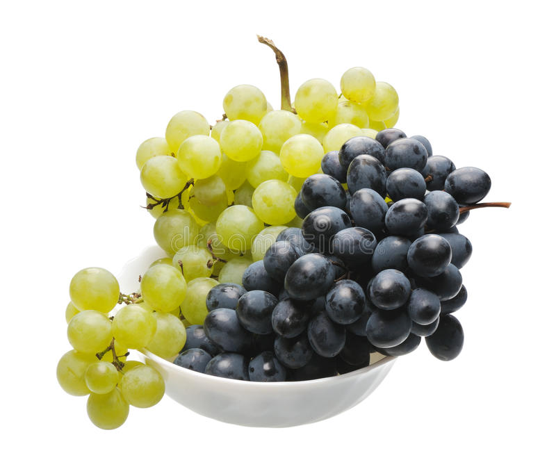 Black and green grapes royalty free stock images