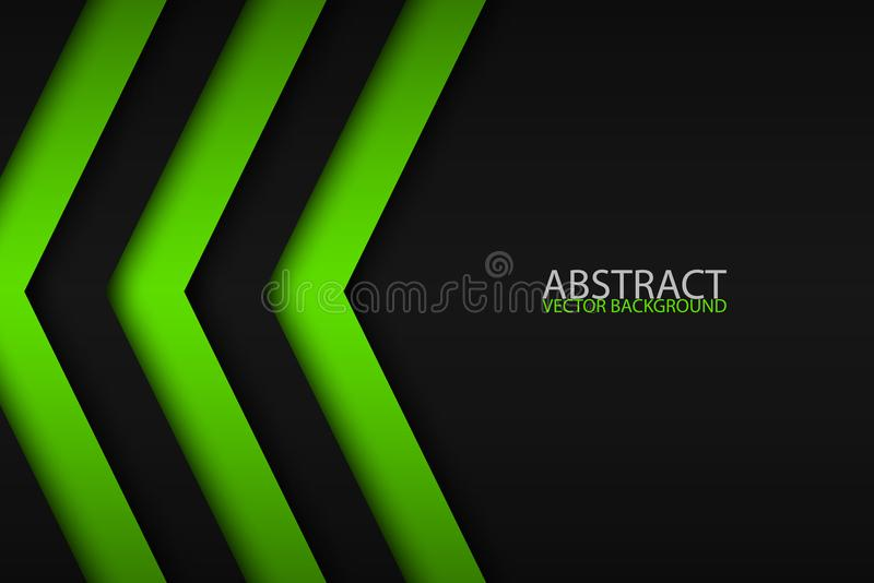 Black and green overlayed arrows, abstract modern background royalty free illustration