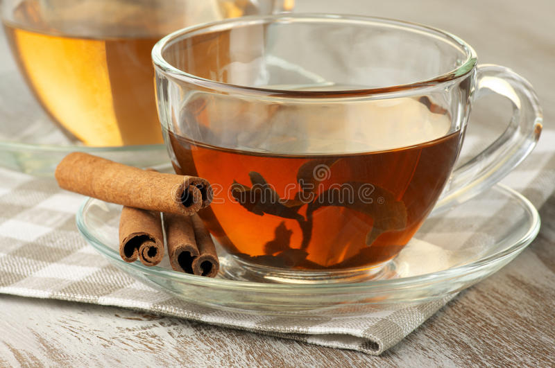 Black and green tea stock photo