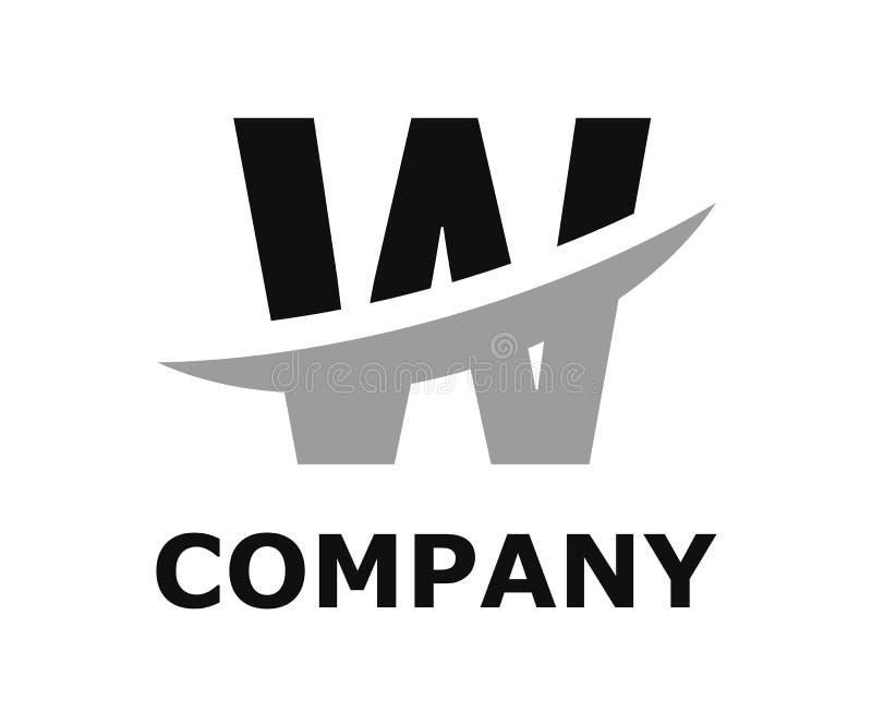 Slice alphabet logo w. Black and grey color logo symbol slice type letter w by blade initial business logo design idea illustration shape for modern premium vector illustration