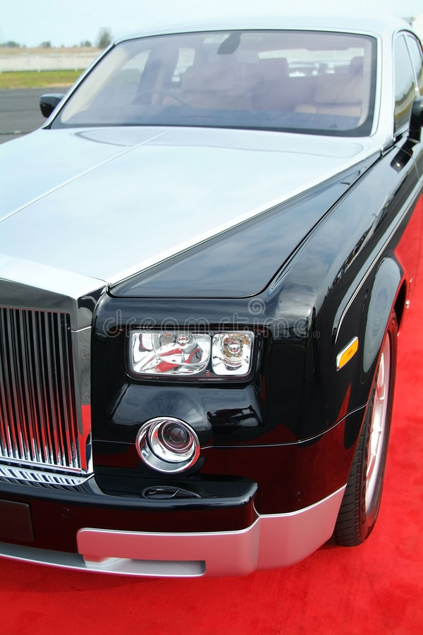 Black and grey luxury car royalty free stock images