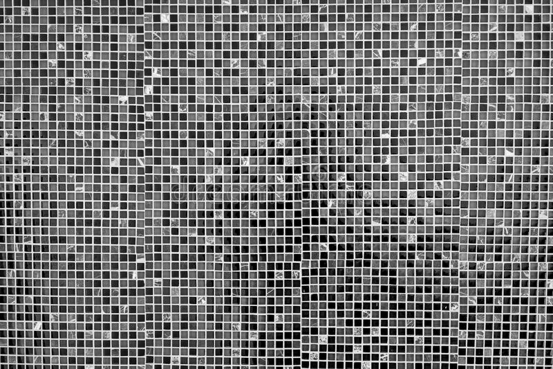 Black and grey mosaic tile background royalty free stock image
