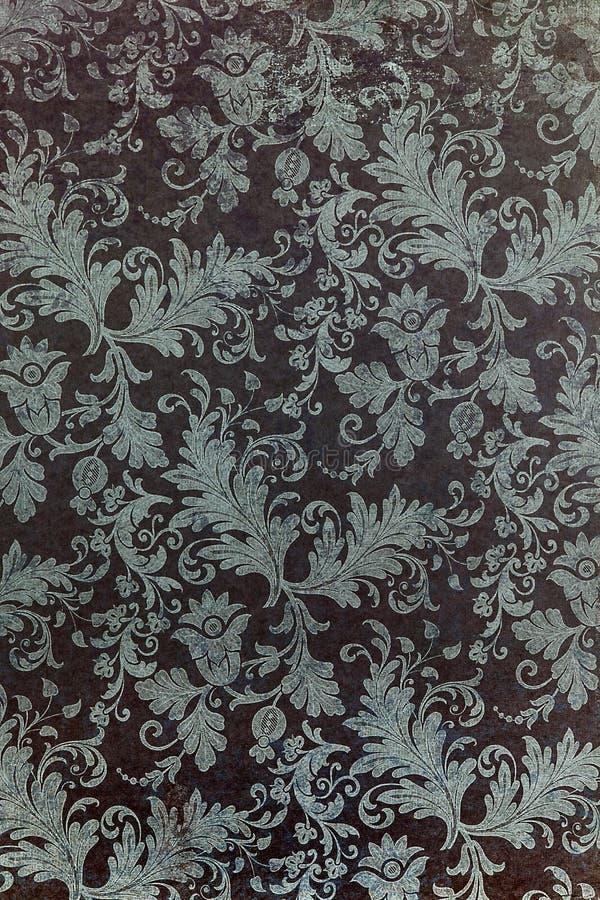 Interesting botanic repeat mauve pattern. royalty free stock photography