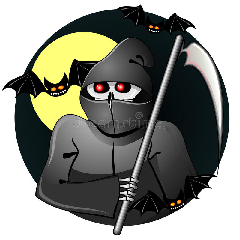 Black Grim Reaper Royalty Free Stock Image