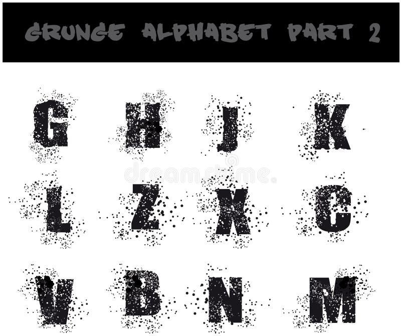 Download Black Grunge Alphabet stock vector. Image of illustration - 9788190