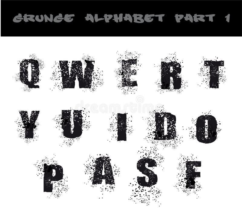 Download Black Grunge Alphabet stock illustration. Image of dirty - 9788201