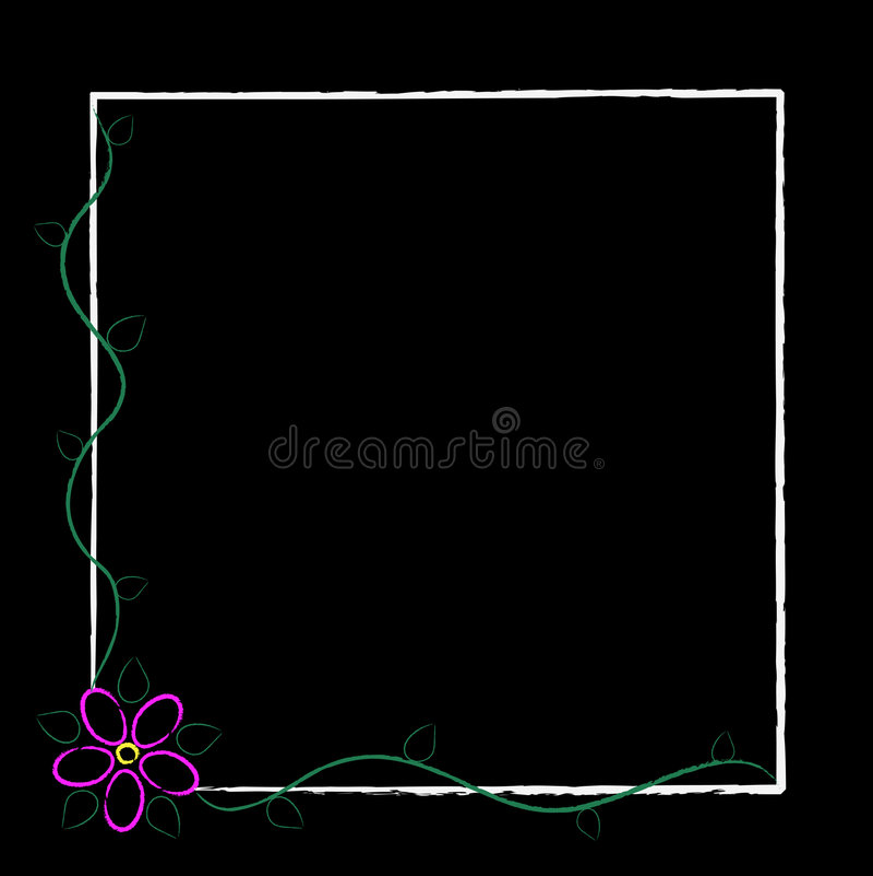 Free Black Grunge Flower Frame Royalty Free Stock Photos - 4329318