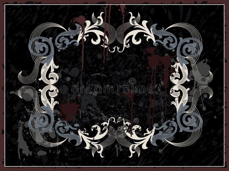 Black Grunge Frame Stock Image