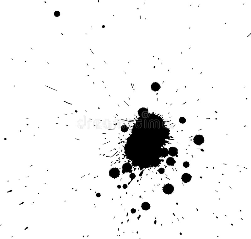 Black Grunge Spatter Royalty Free Stock Photos