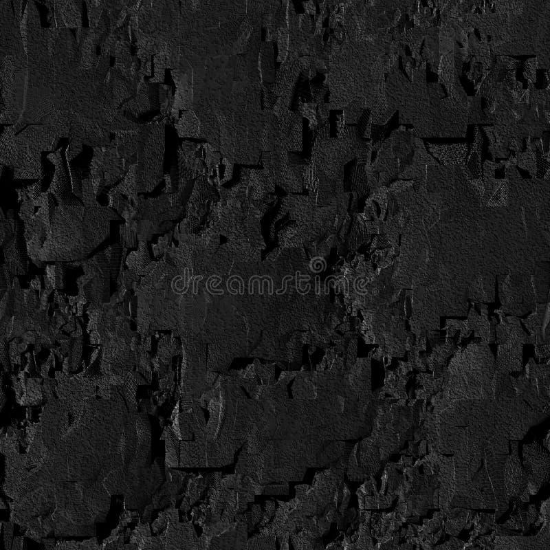 Black grunge stone. Seamless background royalty free illustration