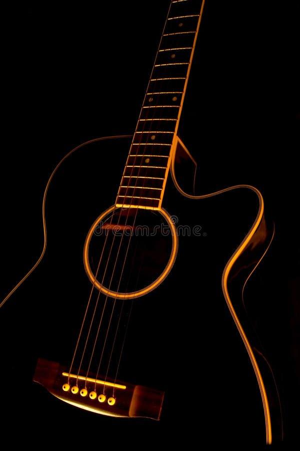Black guitar stock illustration