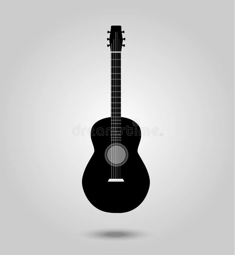 Black guitar royalty free illustration