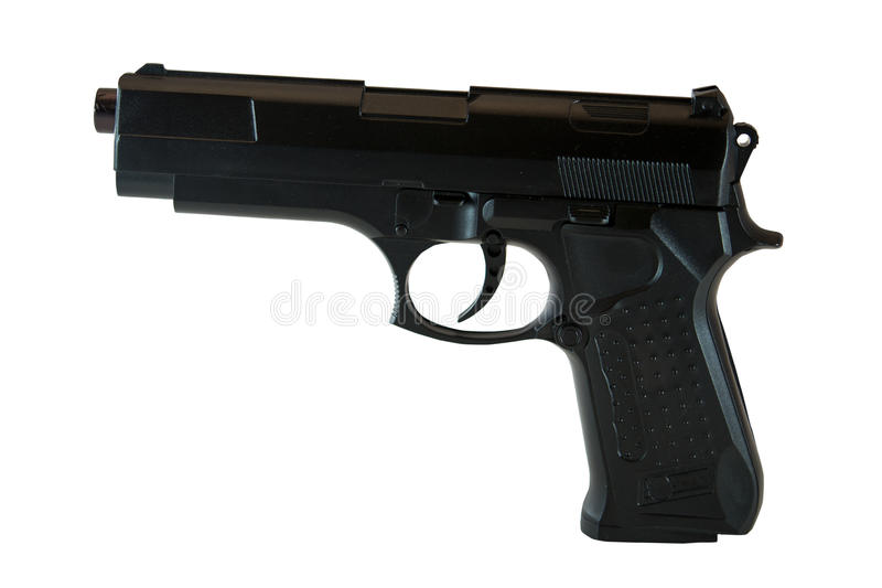 Black gun royalty free stock image