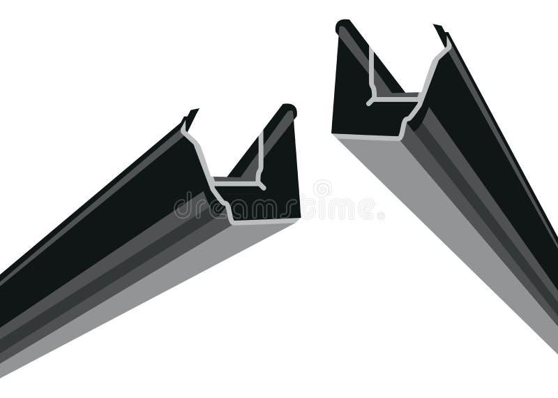 Download Black guttering stock vector. Illustration of shoot, rain - 24875032
