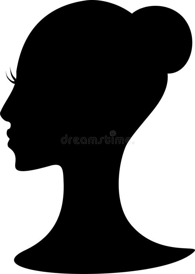 Black hair vector illustration