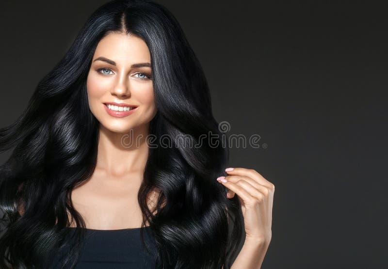Black hair beauty woman beautiful portrait. Hairstyle curly hai stock photos