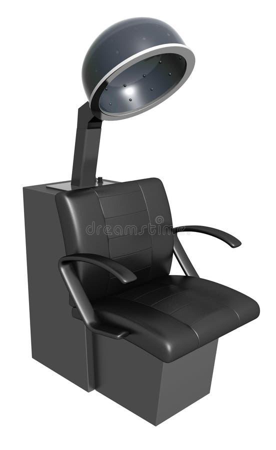 Download Black hair dryer armchair stock illustration. Illustration of creative - 23510808