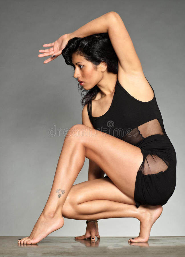 Download Black Hair Figurative Woman S Form Stock Image - Image: 21263389
