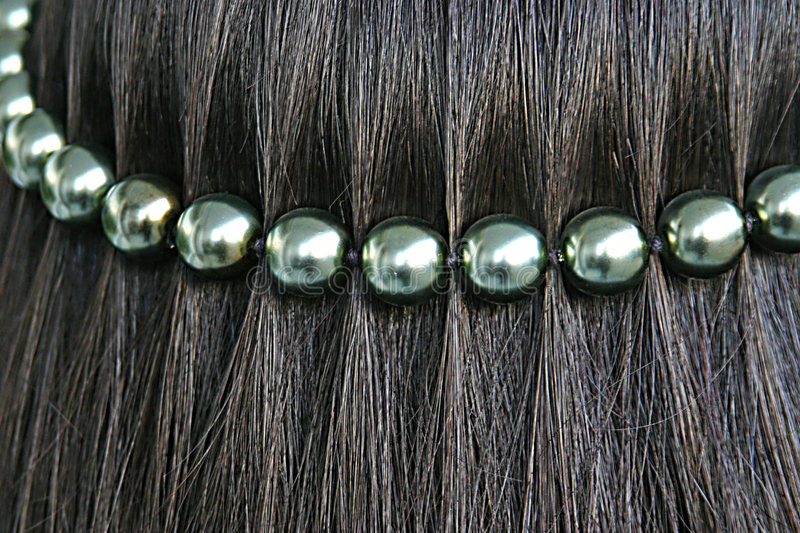 Download Black Hair With Pearl String Stock Photo - Image: 5790230