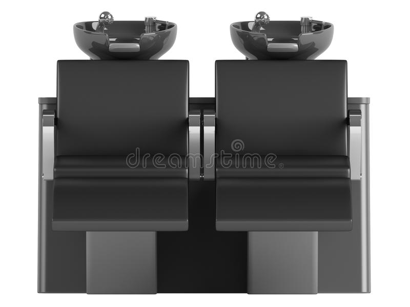 Download Black Hair Wash Double Seat Chair Stock Illustration - Image: 25532078