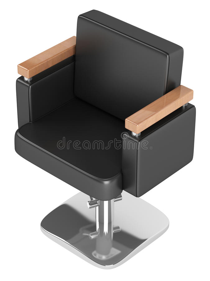 Black Hairdressing Salon Chair Stock Photography