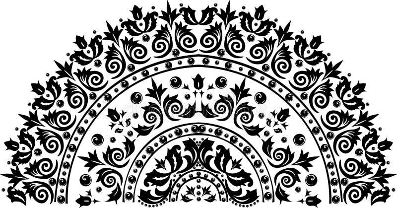 Unique Black Half Circle Decoration Stock Illustration - Illustration of  VQ82