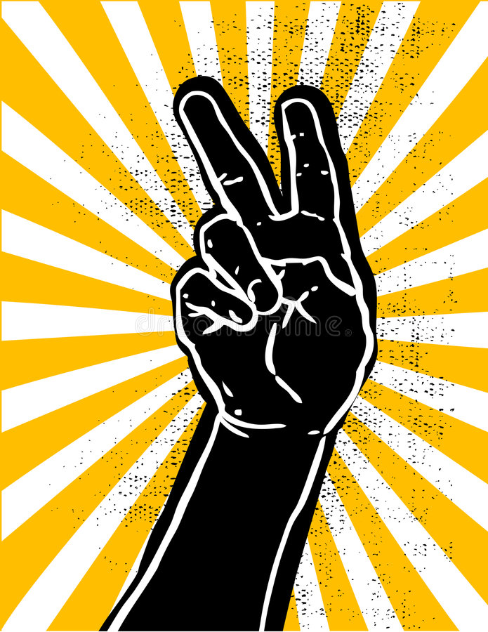 Black Hand- Victory Royalty Free Stock Photography