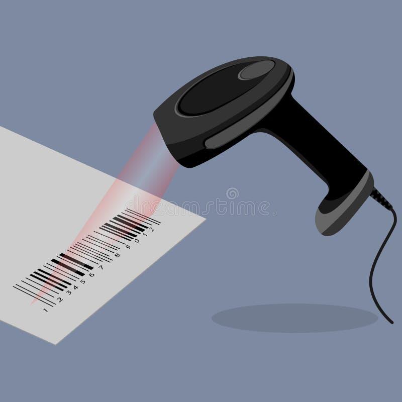 Free Black Handheld Barcode Scanner Scanning Bar Code Royalty Free Stock Photos - 89950448