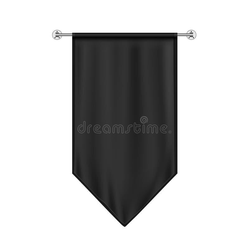 Black Hanging Flag Mockup vector illustratie