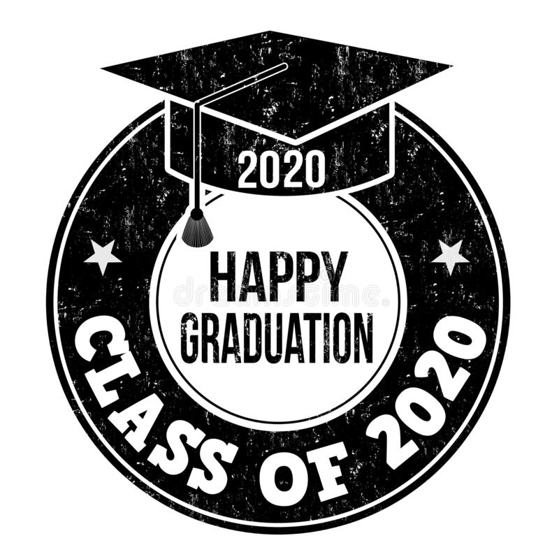 Black Happy Graduation 2020 Logo On A White Background Stock Photo ...