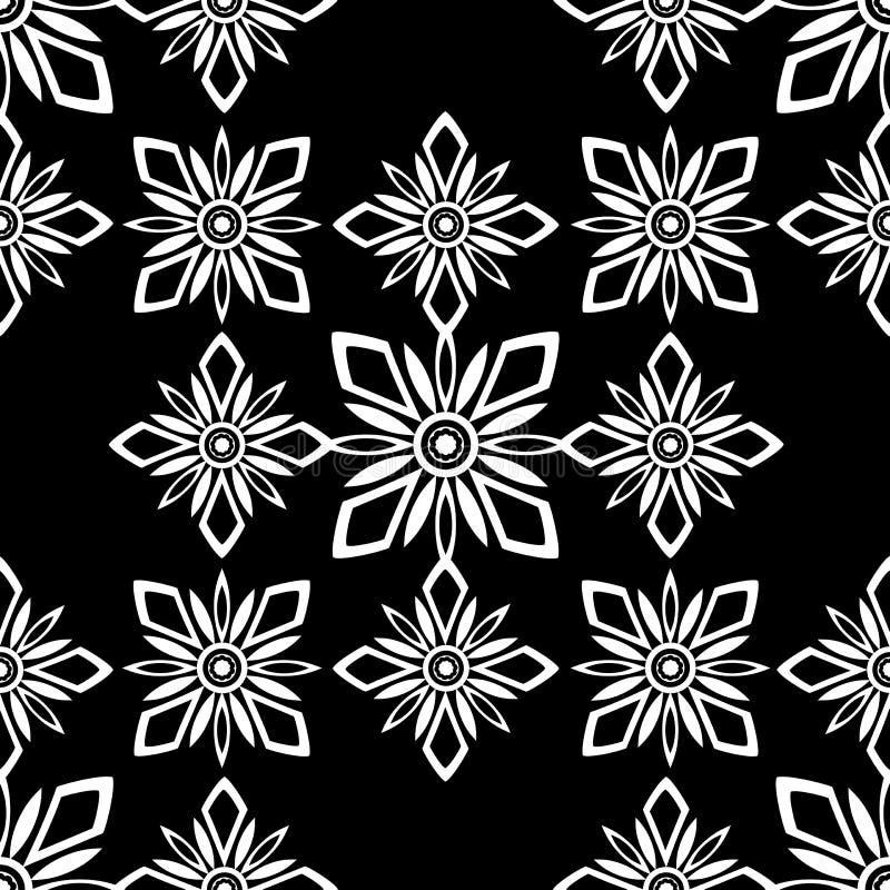 Black harmonic seamless tile stock images