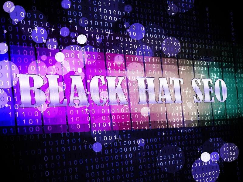 Black Hat Seo Website Optimization 3d Illustration Stock