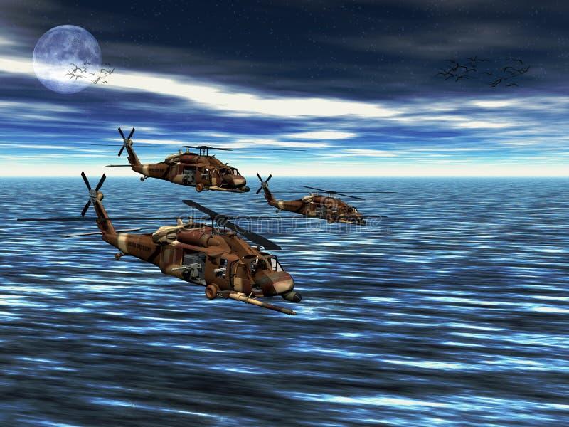 black hawka helikopter armię. ilustracji
