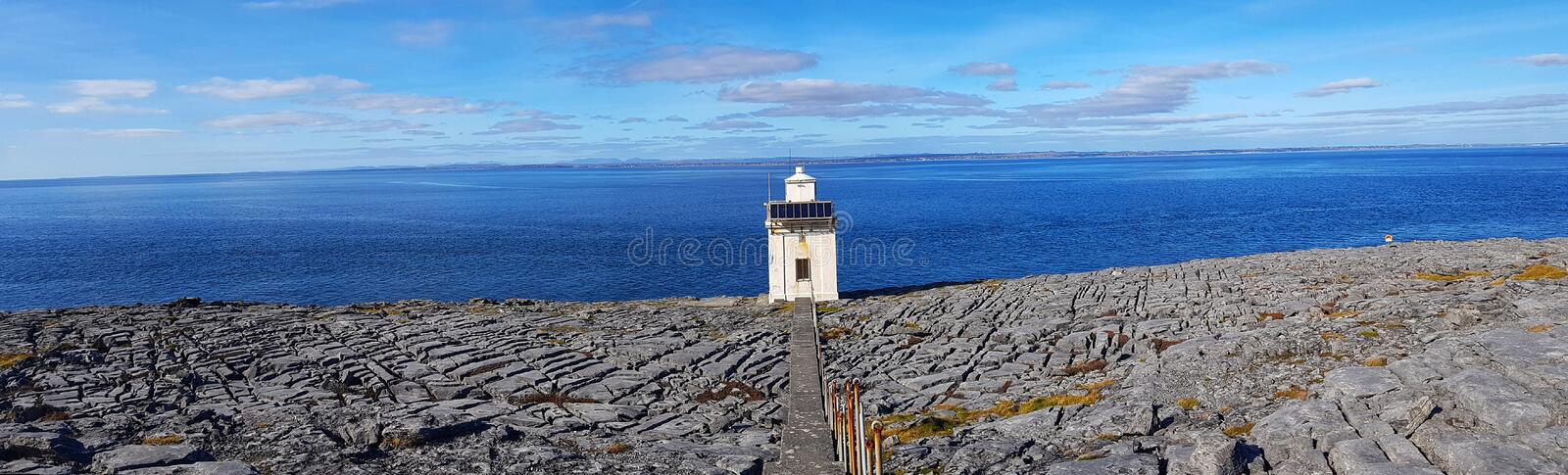 Black head county clare ireland. the burren national park along the wild atlantic way on the geopark geotourism route. Beautiful irish countryside landscape stock images