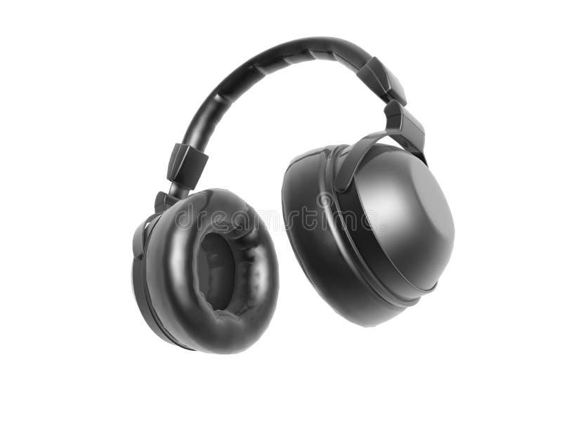 Download Black headphone stock illustration. Illustration of open - 28633589