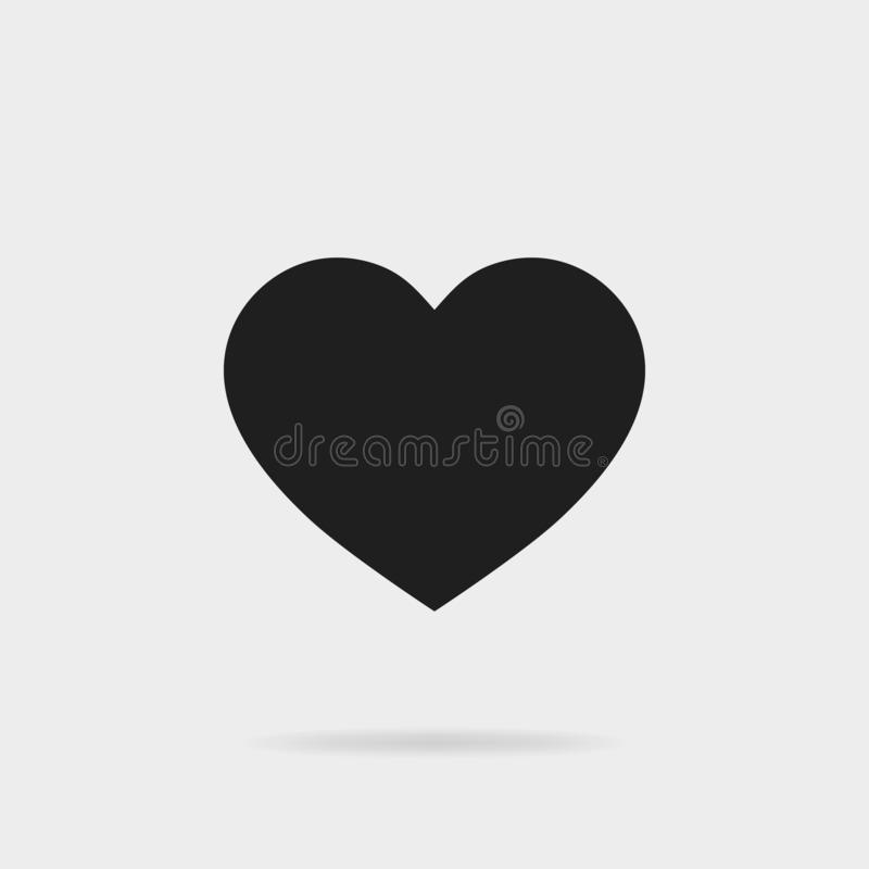 Black heart shape.Like icon. Social media icon for for Instagram.vector eps10 stock illustration
