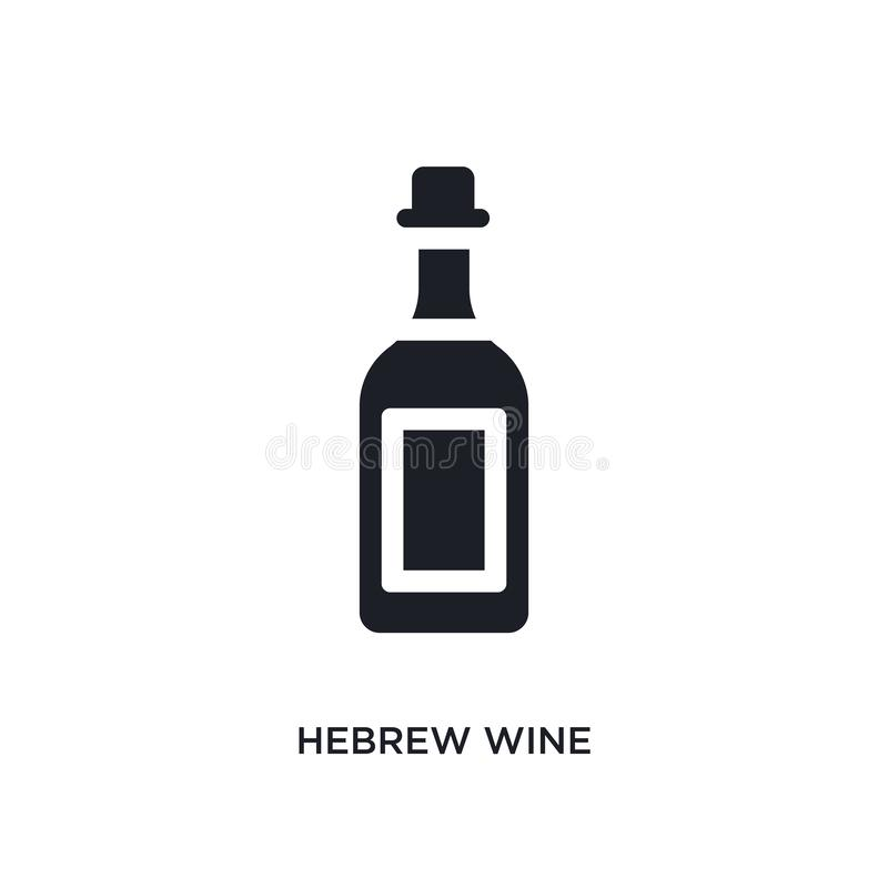 black hebrew wine isolated vector icon. simple element illustration from religion concept vector icons. hebrew wine editable logo vector illustration