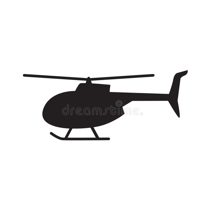 Helicopter icon. Black helicopter icon- vector illustration stock illustration