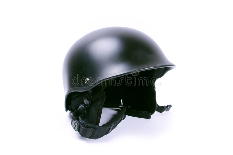 Black helmet stock photo