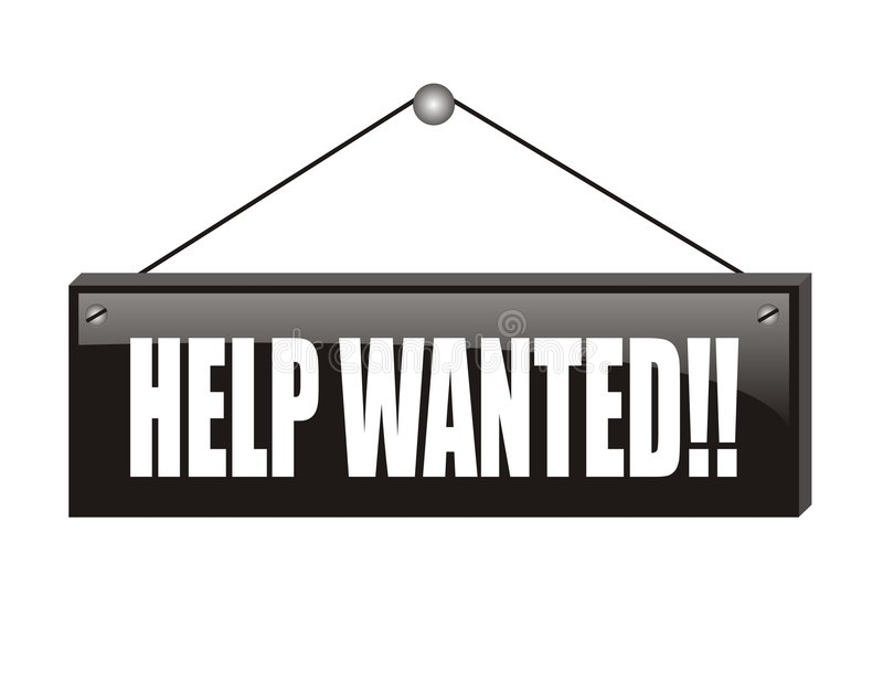 Download Black help wanted stock vector. Image of wanted, employ - 3938254