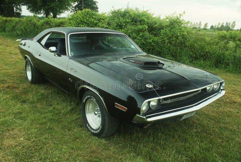 426 1970 Black Hemi Challenger stock images