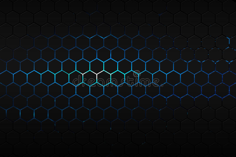 Good Download Black Hexagon And Red Neon Light Stock Illustration   Illustration  Of Glow, Color: