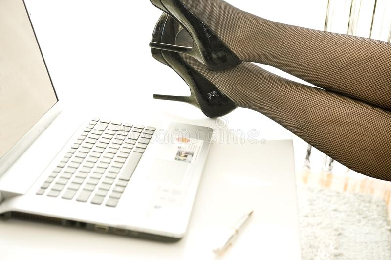 Black high heels stock image