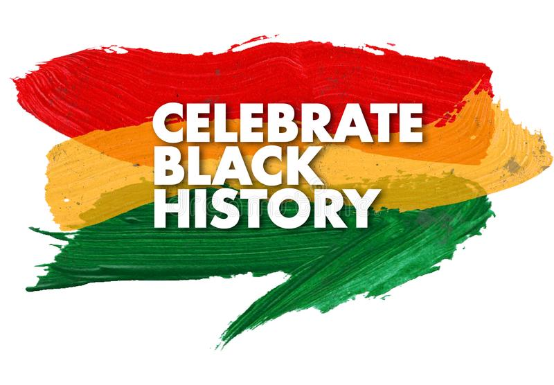 Black History Month Celebration Flag Art Pride. Red Yellow Green Watercolor logo African colors vector illustration