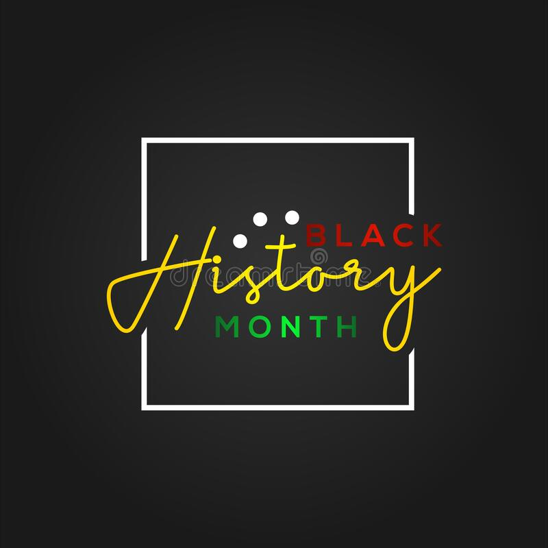 Black History Month Vector Design For Banner Or Background Stock Vector